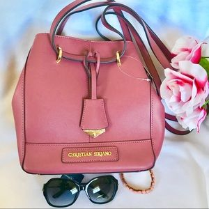 Christian Siriano Pale Pink Shoulder Bag